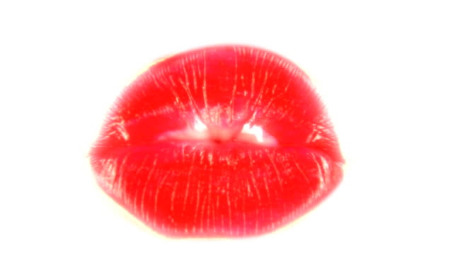 Lipstick kiss Woman's lips makes a lipstick kiss (sound included) human lips stock videos & royalty-free footage