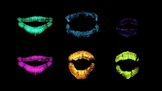 vídeos y material grabado en eventos de stock de pintalabios labios - boca