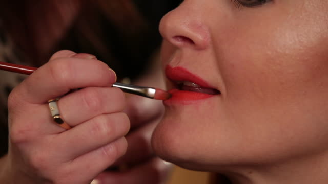 Lipstick  red lipstick stock videos & royalty-free footage