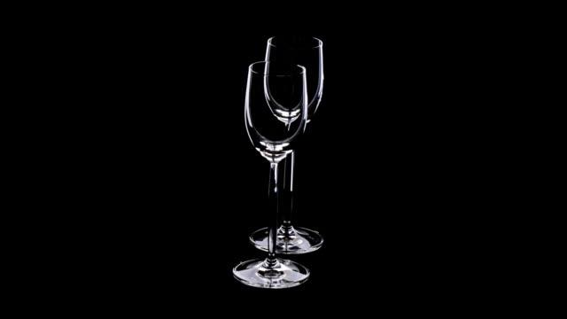 リキュールガラス - ワイングラス点の映像素材/bロール