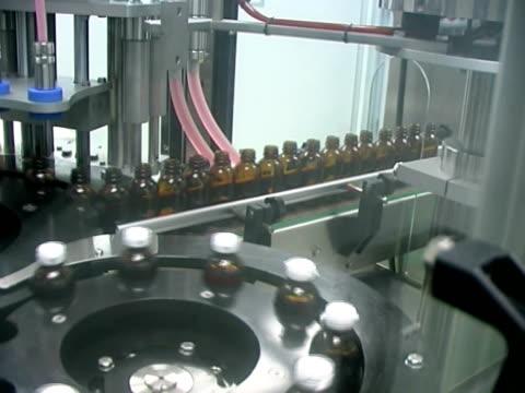 Liquid medicine production line. video