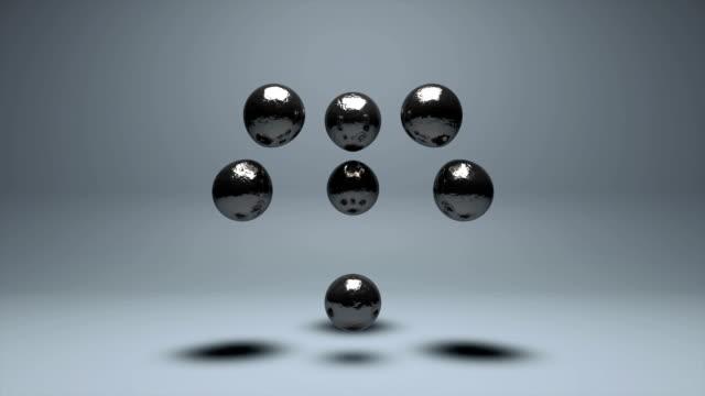 Liquid mercury balls floating. video