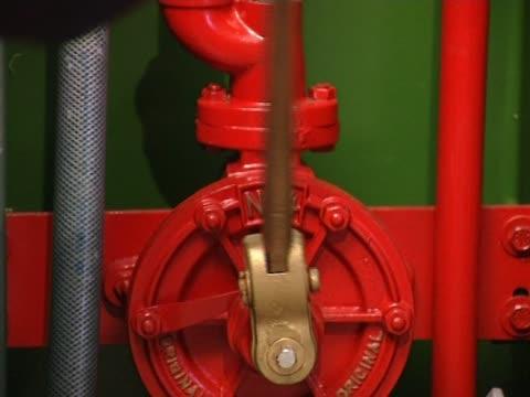 Liquid pump close up video