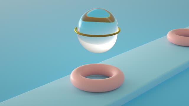 3D Liquid Sphere Infinite Loop Animation