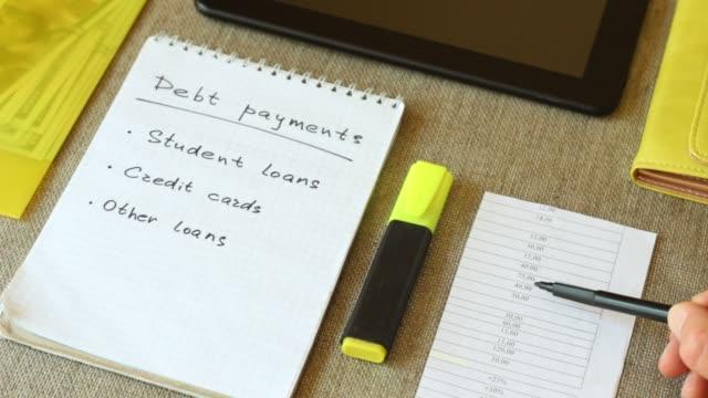 wykaz spłat zadłużenia rodziny - długi filmów i materiałów b-roll