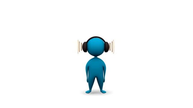 listening music video