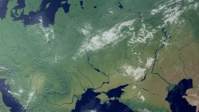 lituania viene visualizzato dopo terra zoom (con alfa opaco) - estonia video stock e b–roll