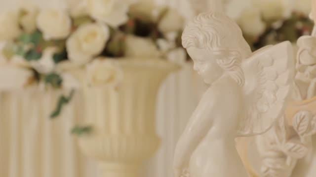 Little Angel Sculpture, medium shot video