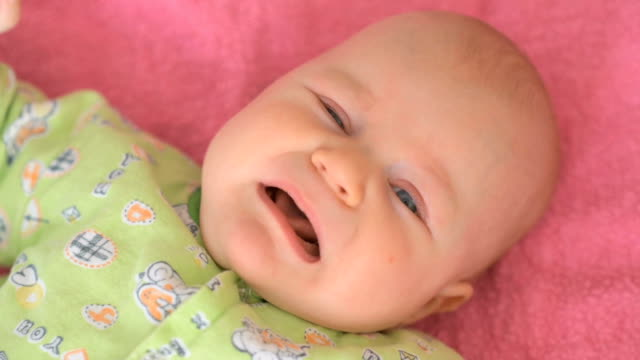 Little baby crying in crib video