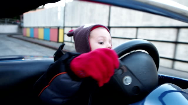 Little Boy Driving Car video