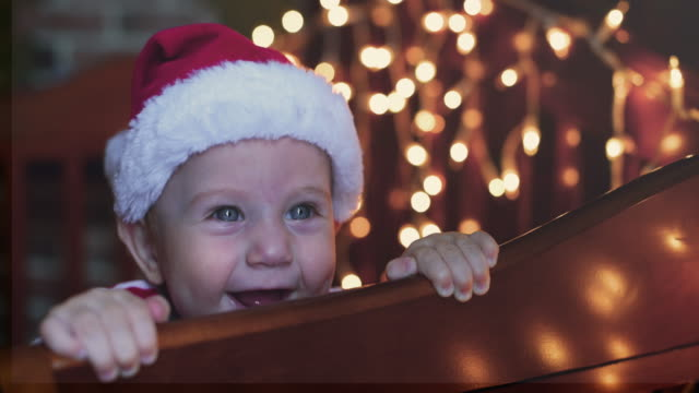 Little boy in Christmas video