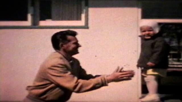 Little Boy Jumps To His Dad (1963 - Vintage 8mm) video