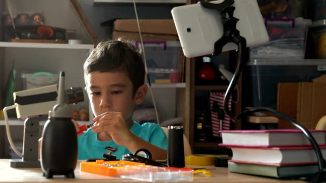 Little Boy Learning DIY For Repairing video