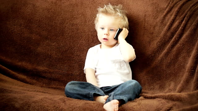 Little boy on the phone video
