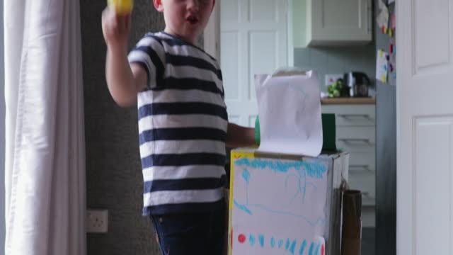 Little Boy Using His Imagination