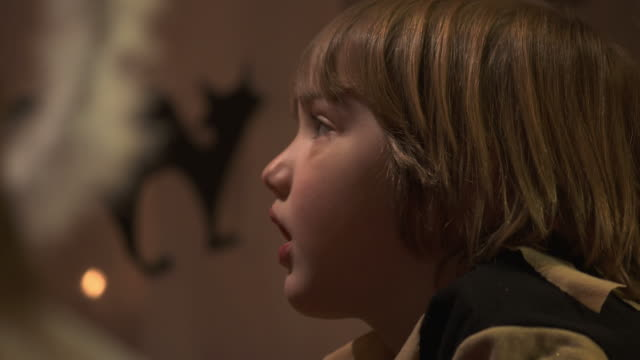 HD DOLLY: Little Boy Watching Theatrical Performance video