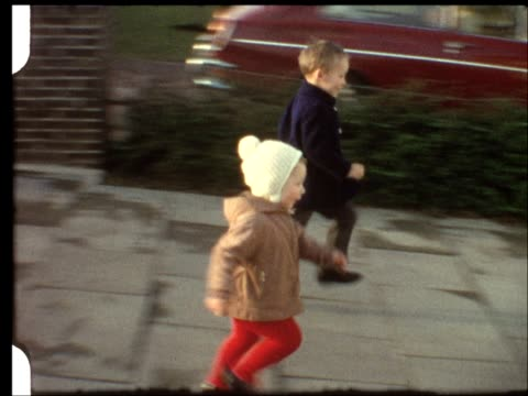 Little boys racing (vintage 8 mm amateur film) video
