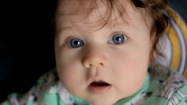 Little cute baby girl,close up