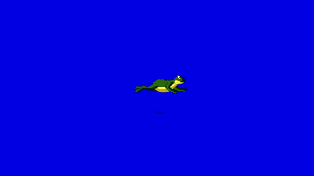 Little Frog Jumps isolated on Blue Screen Little Frog Jumps. Animated footage, animal isolated on a blue screen chroma key frog stock videos & royalty-free footage