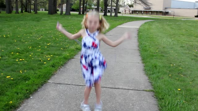 little girl, age 5, learning to jump rope. - young singles stock videos and b-roll footage