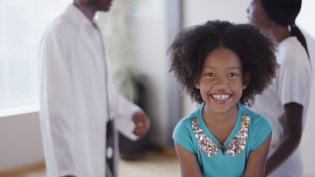 Little Girl and Mother Visit Doctor video