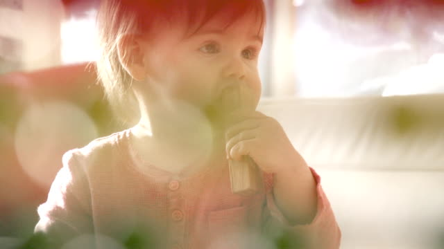 Little Girl Child Playing Alone video