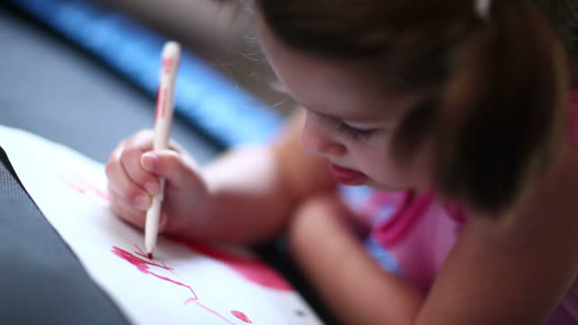 Little Girl Coloring video