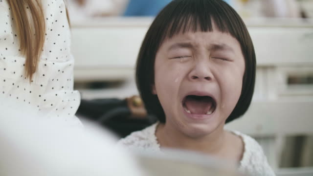 Little girl(2-3 years) crying really emotional