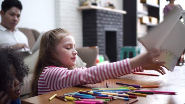 Little Girl Doing A Homework video