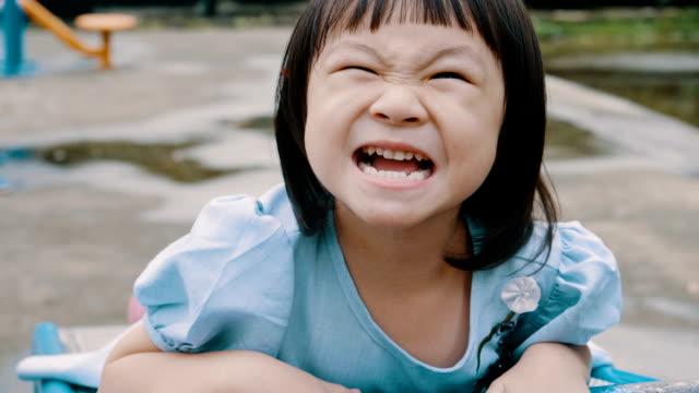 Little Girl Enjoying At the Playground video