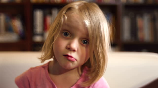 Little girl gives a confused look video
