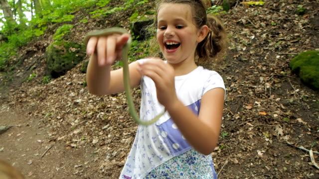 Little Girl Holding Snake video