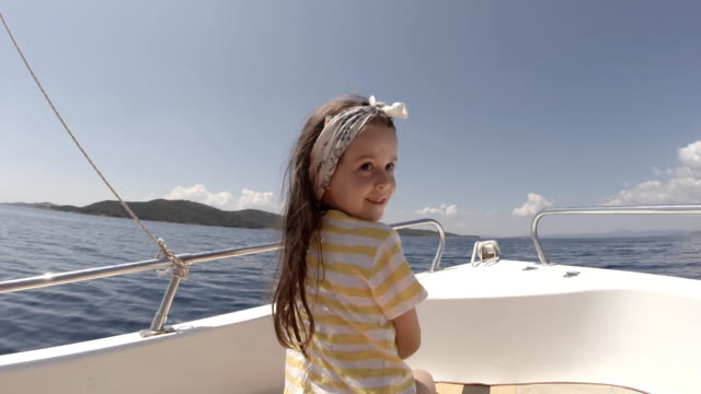 Little Girl in Boat. Summer Holiday video