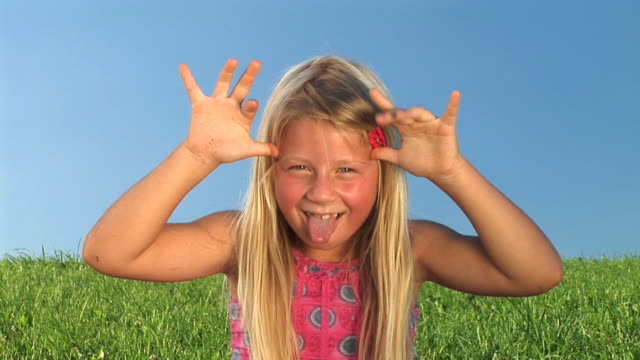 HD: Little Girl Making Faces video