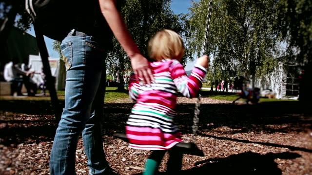 HD: Little Girl on a Swing video