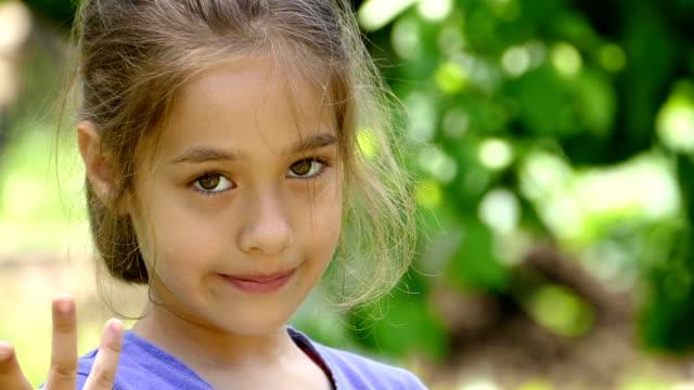 Little girl outside video