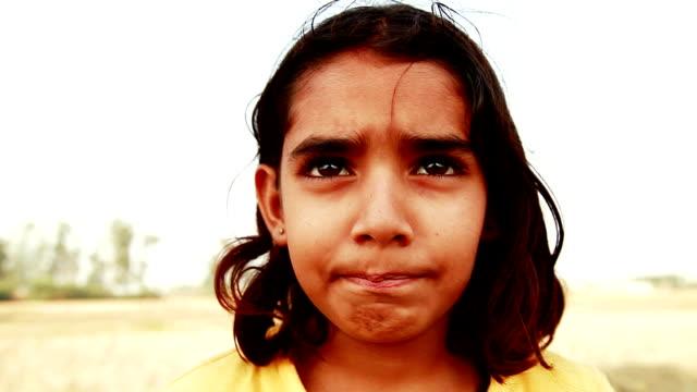 Little Girl Portrait close up video