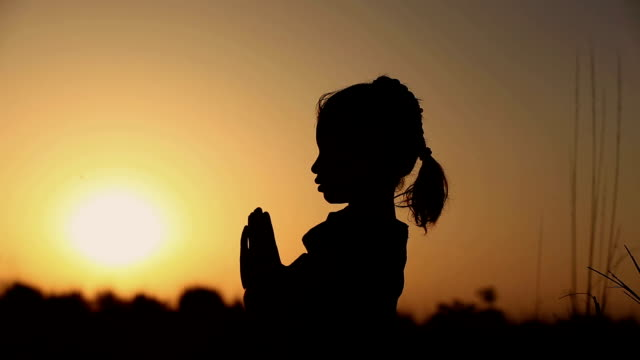 Little Girl Praying Silhouette video
