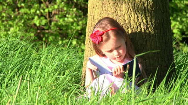 Little girl reading video