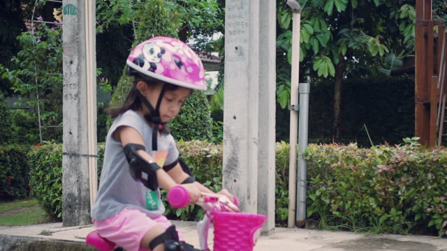 MS TS Little Girl Riding Bicycles video