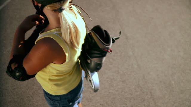 HD: Little Girl Rollerskating video