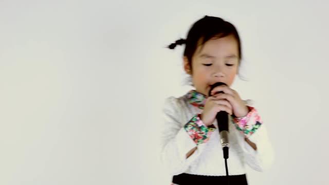 Little girl singing. video