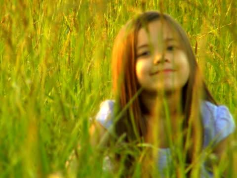PAL Little Girl (#2) sitting in Field video