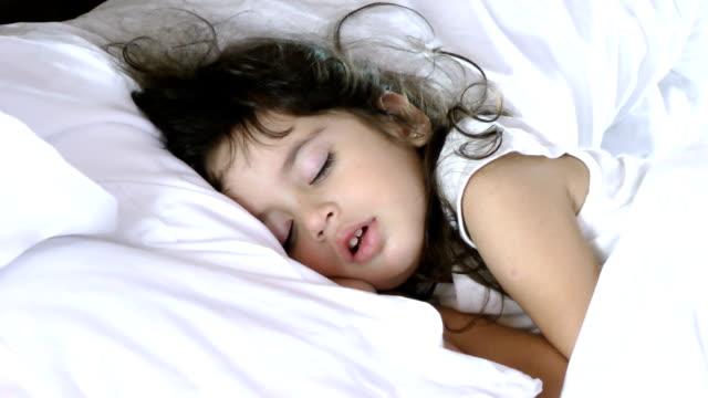 little girl sleeping video