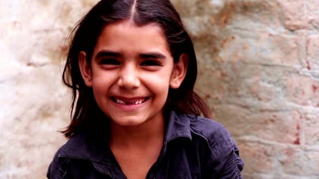 Little Girl Smiling Portrait video