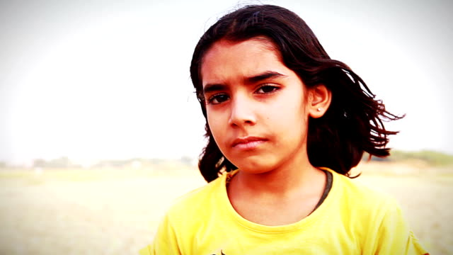 Little Girl Standing Portrait video