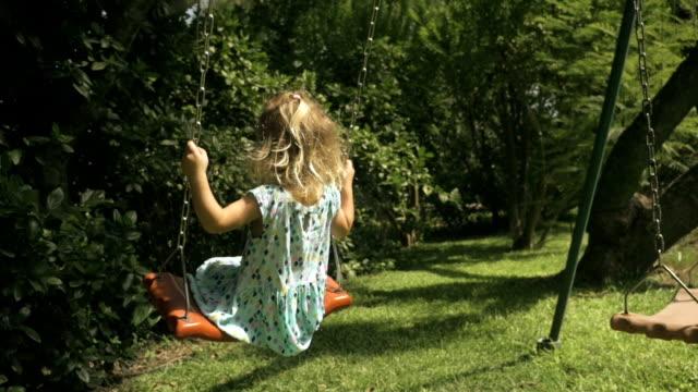 Little Girl Swinging 2