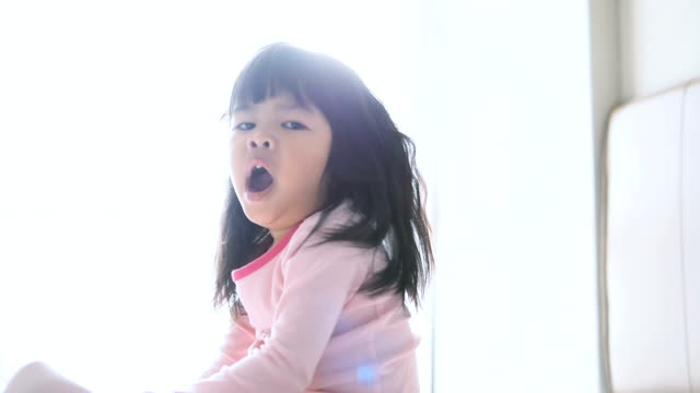 Little Girl Waking Up video