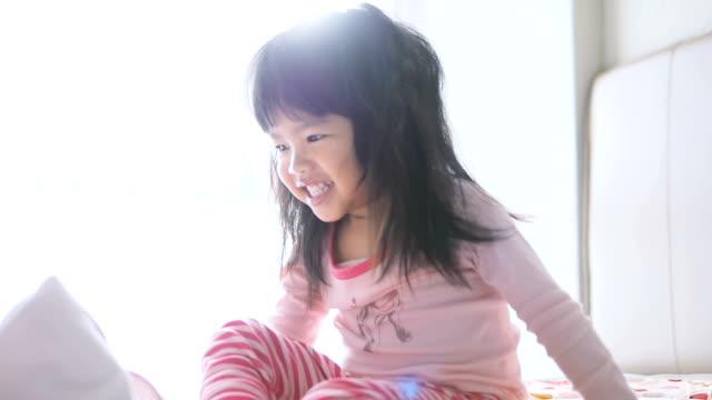 Little Girl Waking Up video