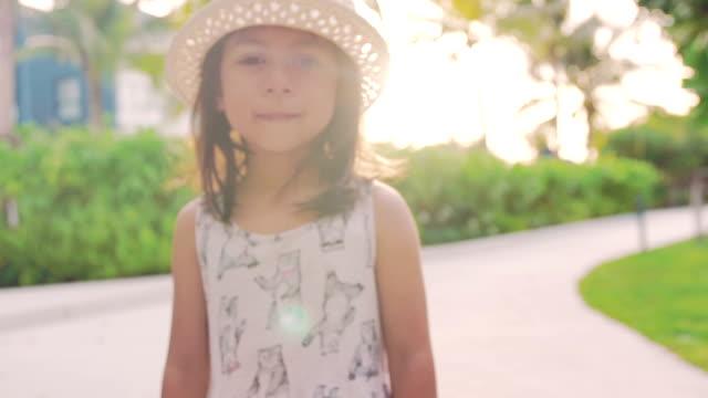 A little girl walking video